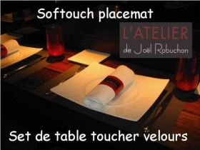Le set de table antiderapant toucher velours - Indutex - Gerex coating